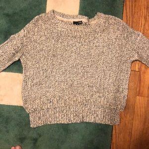 Aqua cropped sweater